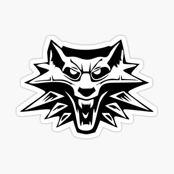 das Hexer Wolf Medaillon Sticker