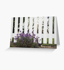 White Picket Fence Greeting Card