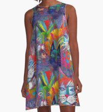 Colourful cats 2 A-Line Dress