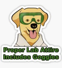 Proper Lab Attire Sticker