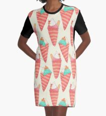Ice Cream Graphic T-Shirt Dress