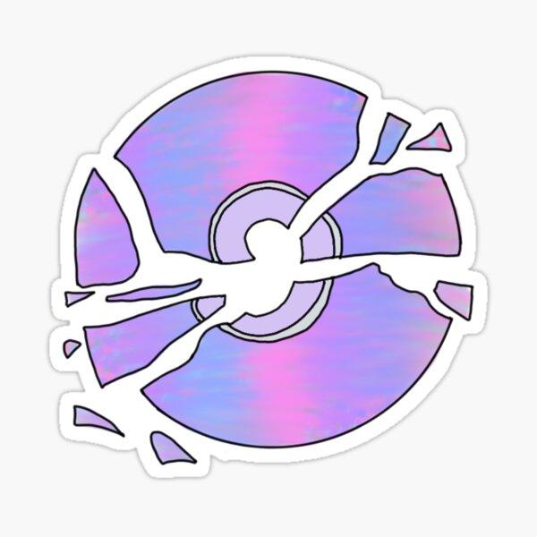 cd roto multicolor Pegatina
