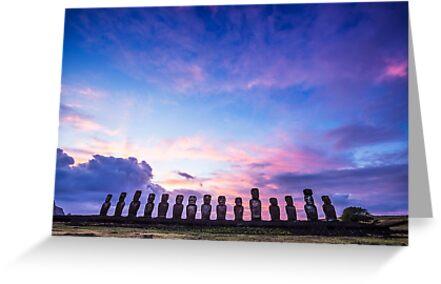 Tongariki Sunrise - Easter Island, Chile by JamesKaoFoto