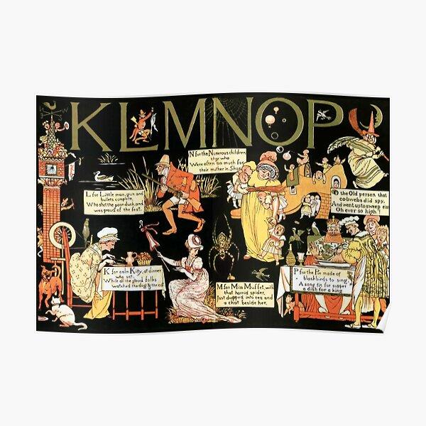 Walter Crane Alphabet Book - KLMNOP Poster