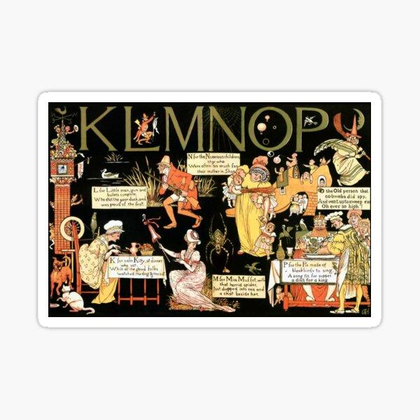 Walter Crane Alphabet Book - KLMNOP Sticker