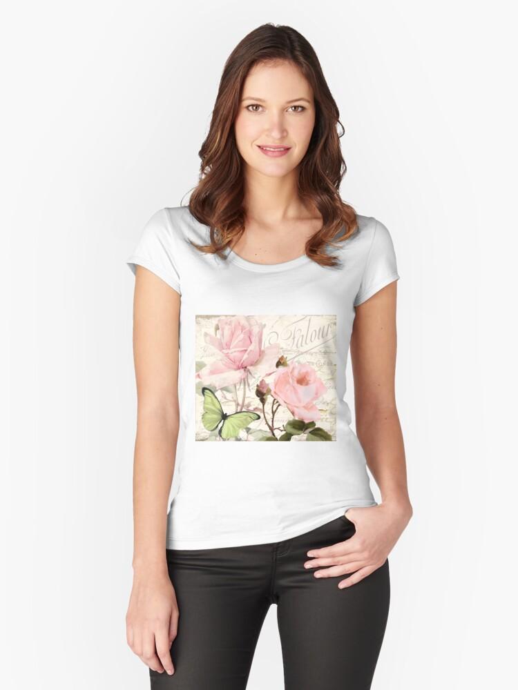 Florabella III Women's Fitted Scoop T-Shirt Front