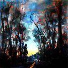 Dusk on Pemberton Browns Mill Rd by Monica Vanzant