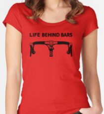 Life Behind Bars Bicycle Women's Fitted Scoop T-Shirt