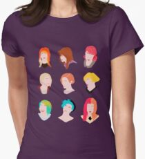 hayley pattern Women's Fitted T-Shirt
