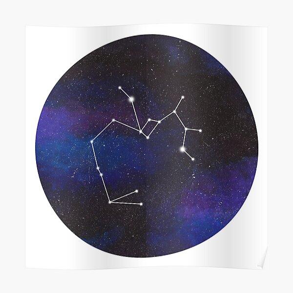 Sagittarius - galaxy star constellation Poster