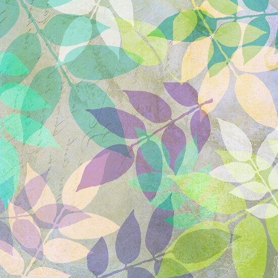 Poppy Shimmer III Leaf Pattern by mindydidit