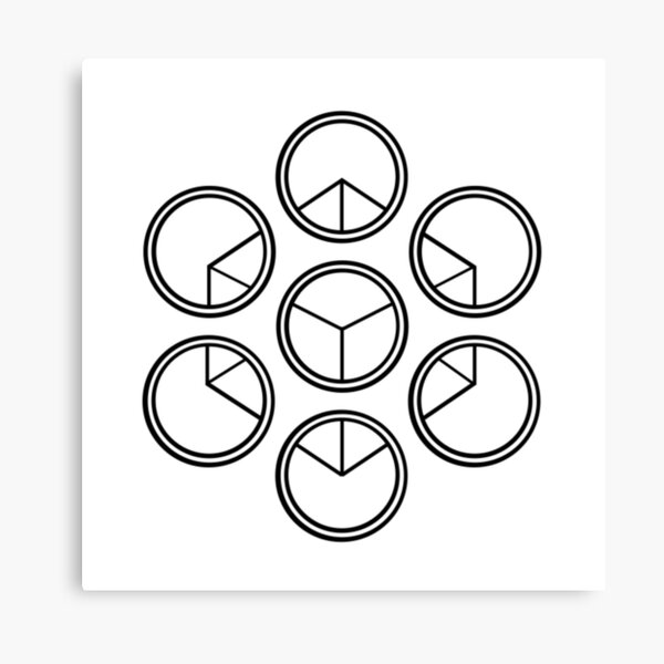 Cube in circles Canvas Print