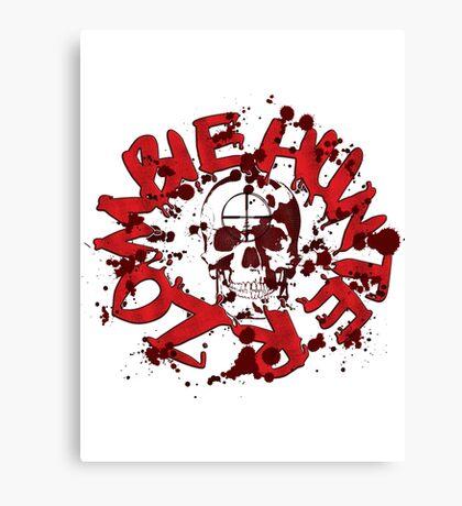 zombie hunter skull Canvas Print