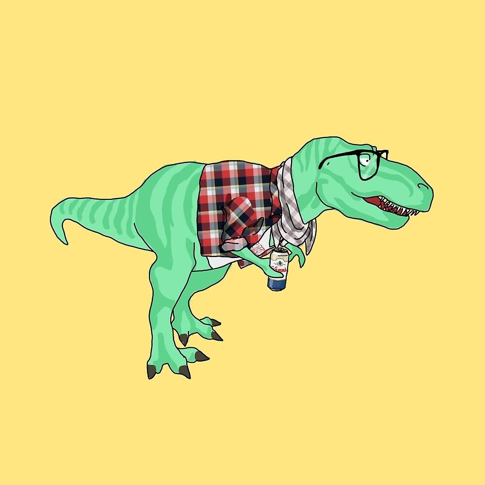 Hipstasaurus by joannalynnm