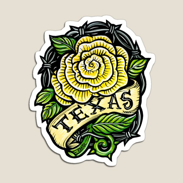 Texas Yellow Rose Magnet