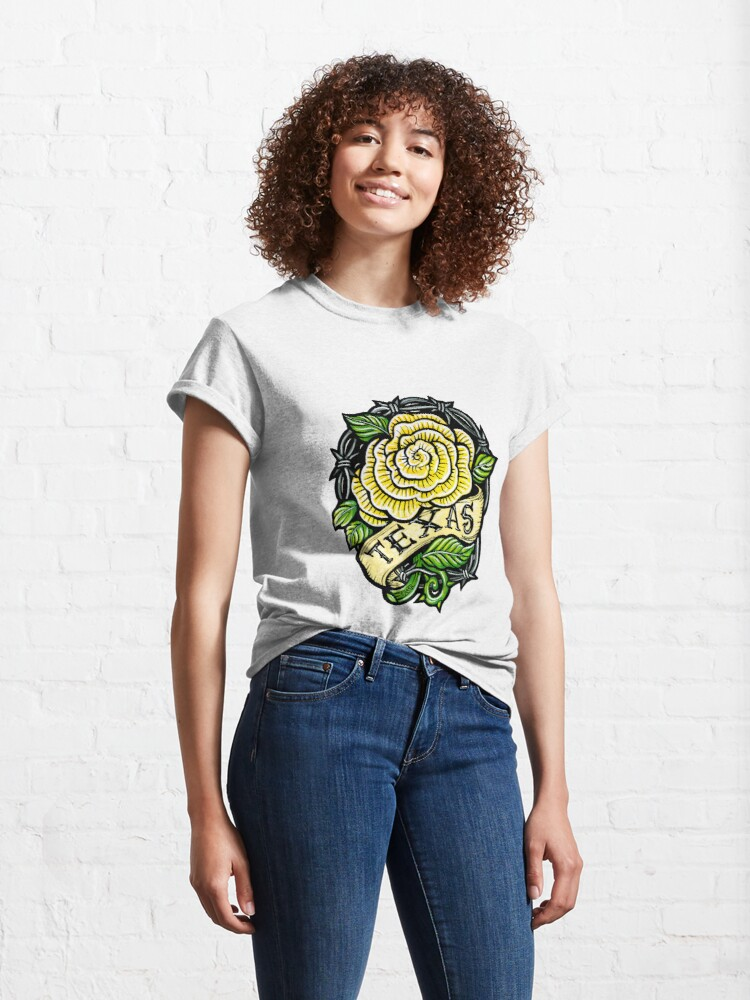 Alternate view of Texas Yellow Rose Classic T-Shirt