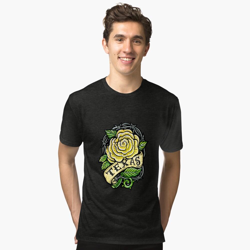 Texas Yellow Rose Tri-blend T-Shirt