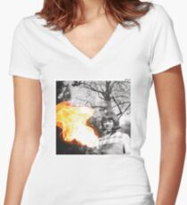 Face Tat Fitted V-Neck T-Shirt