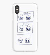 Dumb skull Jokes iPhone Case
