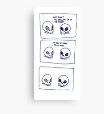 Dumb skull Jokes Canvas Print
