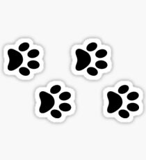 Black dog paws Sticker