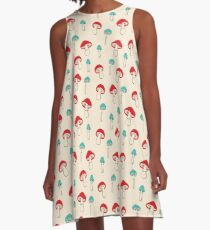 Mushroom Garden A-Line Dress