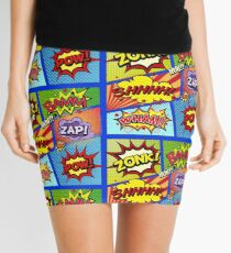 Colorful Comic Book Panels Mini Skirt
