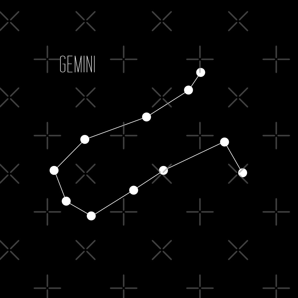 Zodiac: Gemini (Black) by lovesincerelyh