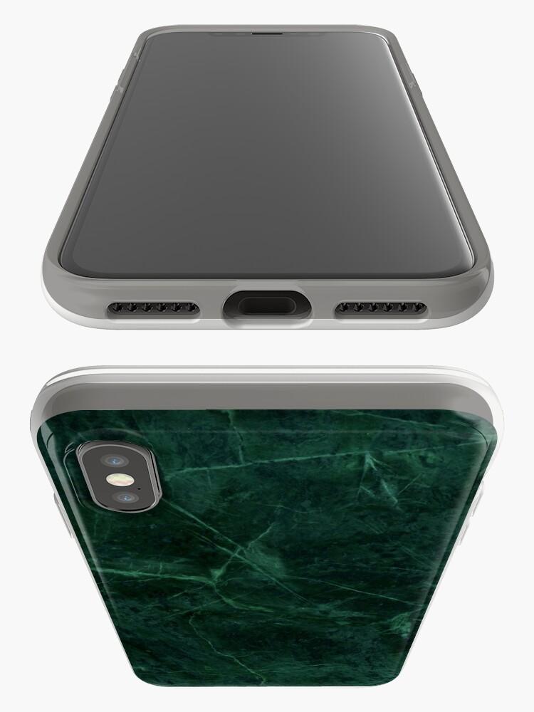 Alternative Ansicht von Grünes Marmor-Muster iPhone-Hüllen & Cover
