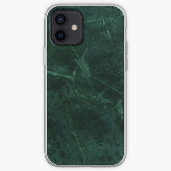 Green Marble Pattern iPhone Soft Case