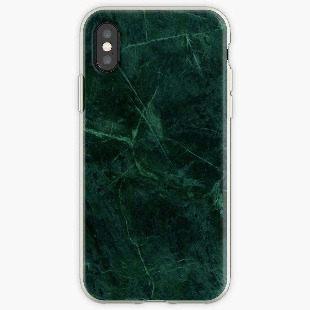 Grünes Marmor-Muster iPhone-Hüllen & Cover