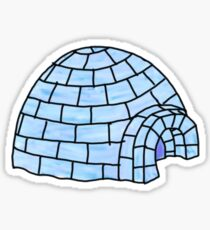 blue ice igloo Sticker