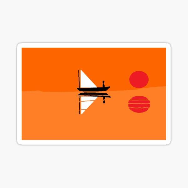 Sun and Sailboat Sticker