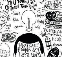Arctic Monkeys Lyrics Sticker