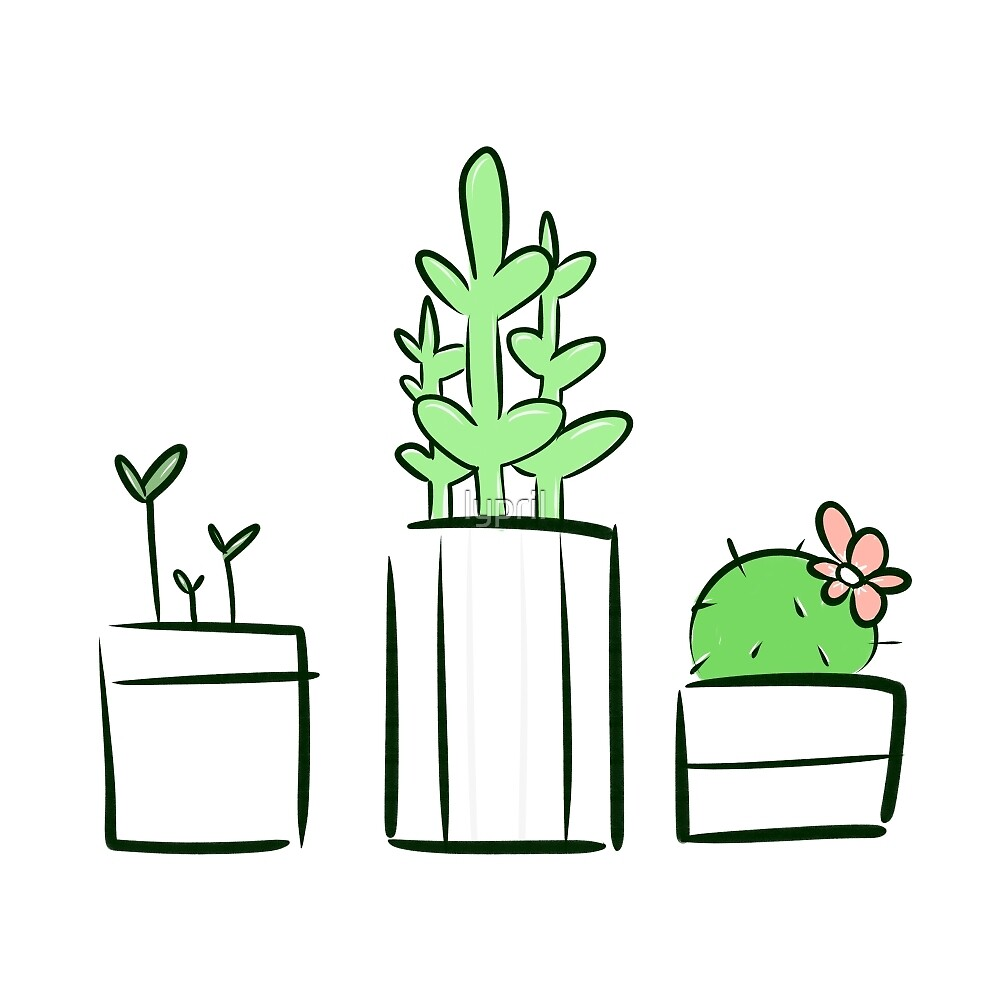 Potted Plants by lypril