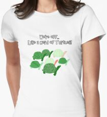 Herd Of Turtles Pattern Women's Fitted T-Shirt