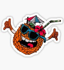 Funny pineapple shaka Sticker