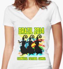 Brazil ...Brazil.. Women's Fitted V-Neck T-Shirt