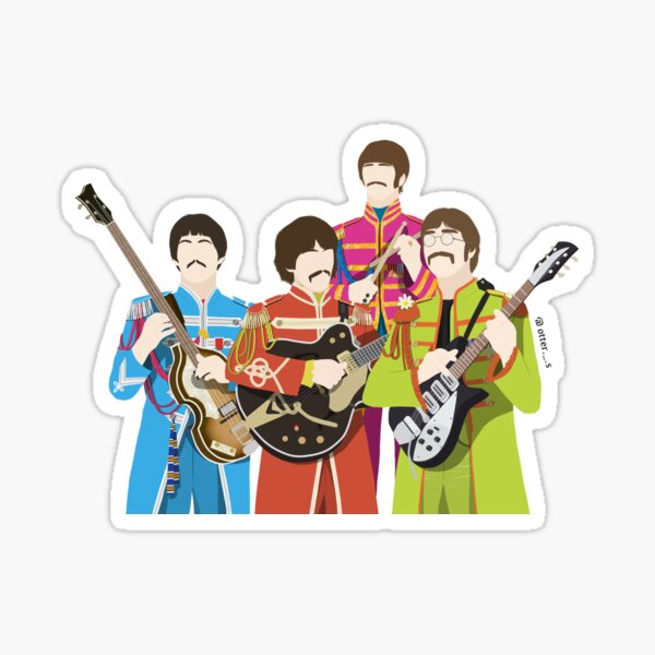 The Beatles (Sgt. Peppers Lonely Hearts Club Band) Sticker