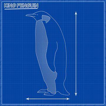 King Penguin Blueprint by trum