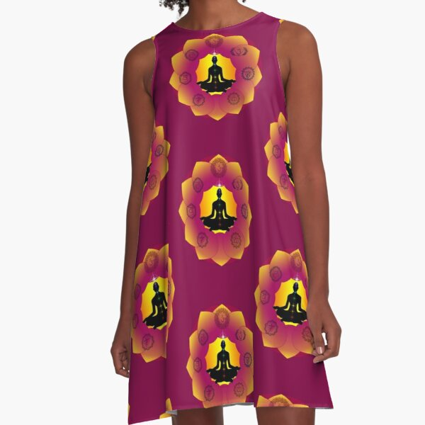 Yoga Lotus A-Line Dress