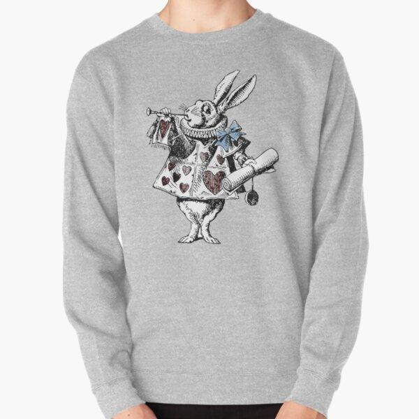 Alice in Wonderland White Rabbit Pullover Sweatshirt