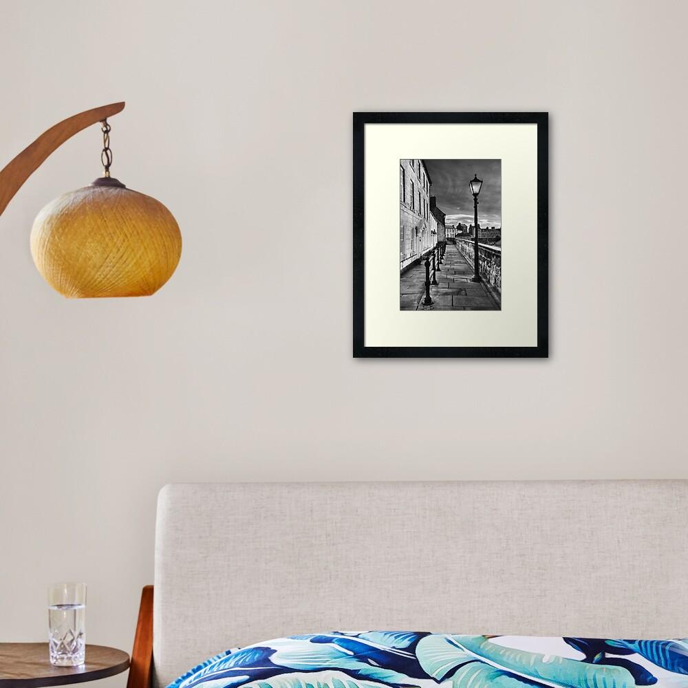 Along The Walls Framed Art Print