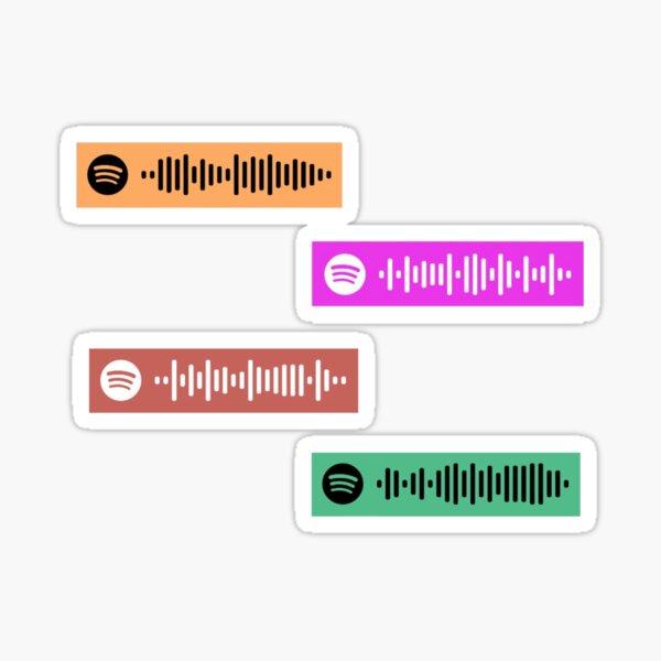 tu nuevo novio, olas de calor, viajes por carretera y velocidad de ensueño ejecutar códigos de Spotify :) Pegatina
