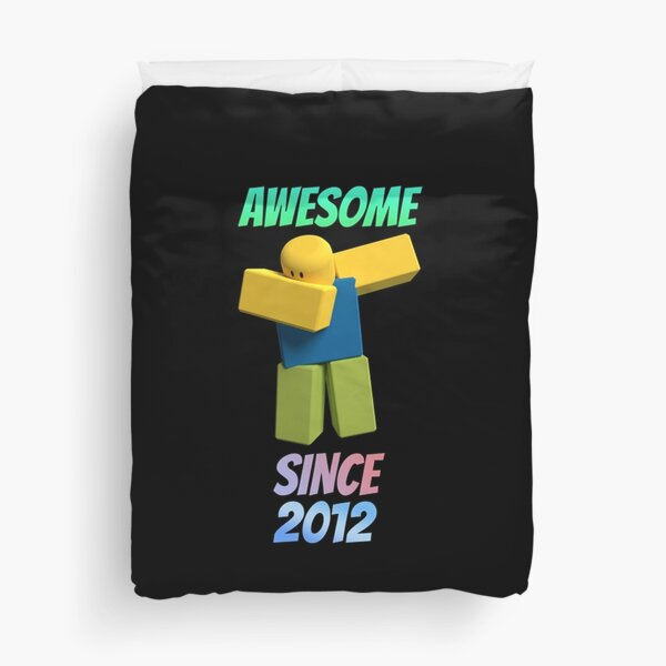 Roblox Dabbing Noob Awesome Since 2012 Birthday Duvet Cover