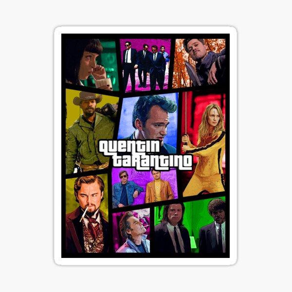 Quentin Tarantino movies poster (GTA version) Sticker
