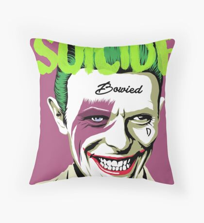 Rock Suicide Throw Pillow