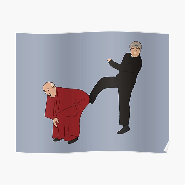 Father Ted Kicking Bishop Brennan Up The Arse Poster