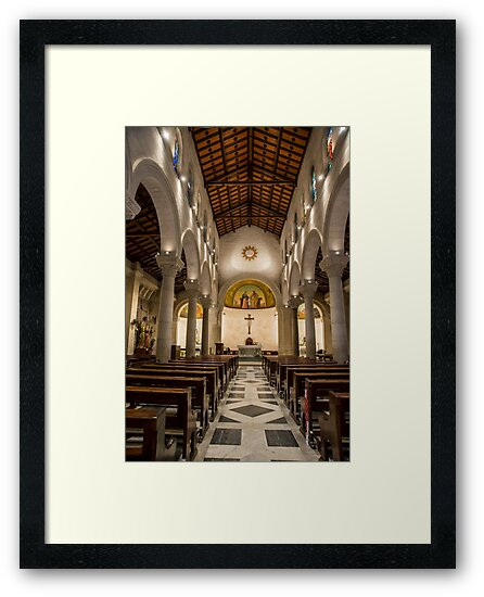 Nazareth, the altar at the upper level of the Church of St Joseph by PhotoStock-Isra