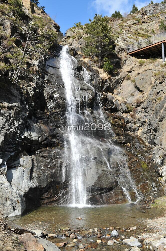 waterfall of Andorra La Vella by arnau2098